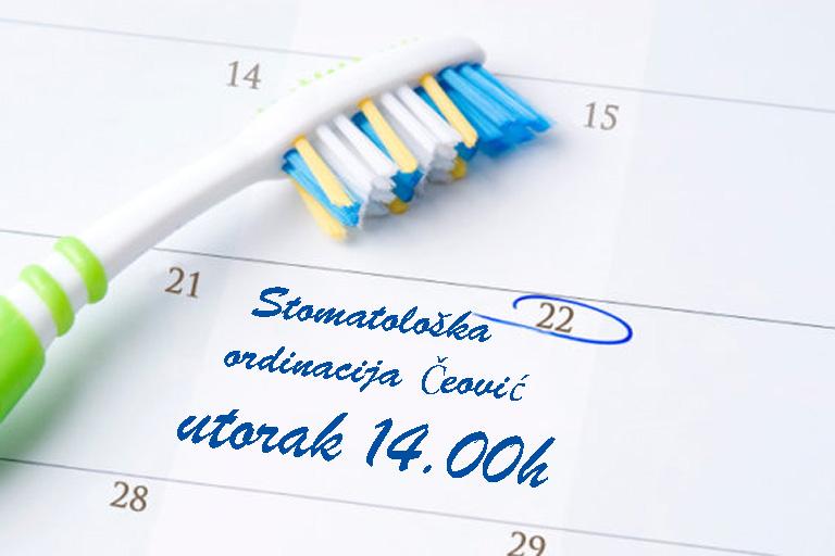 stomatološka ordinacija Čeović, on-line naručivanje